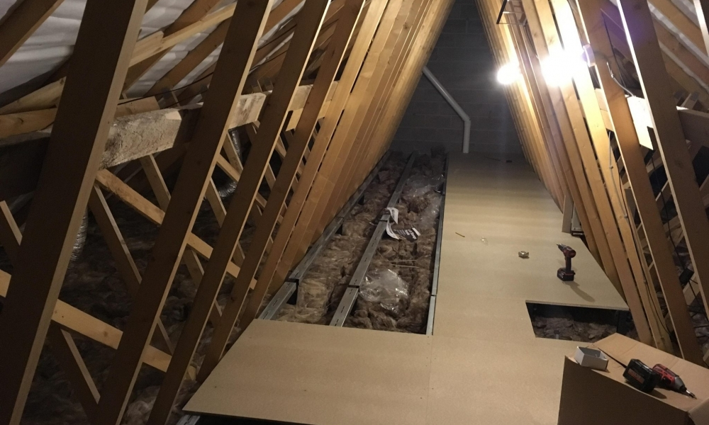 Loft Boarding a New Build in Banbury