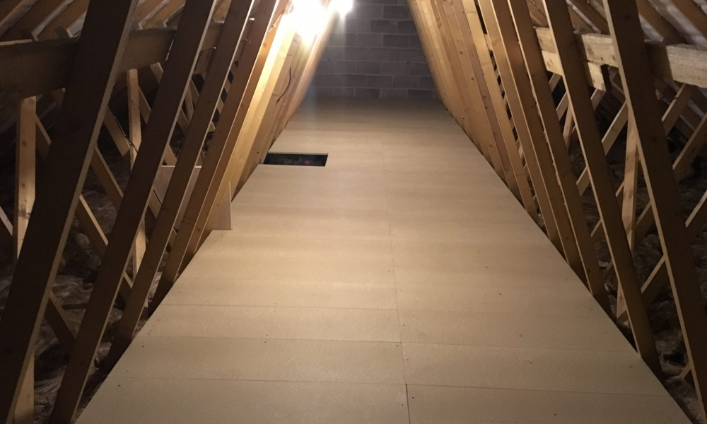 Loft Boarding a New Build in Dudley