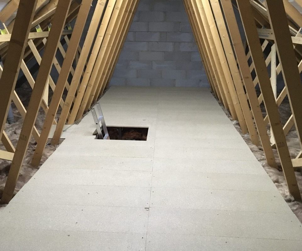 LoftZone Loft Boarding Installed into a New Build Home in Hinckley LE10 2HS Leicester