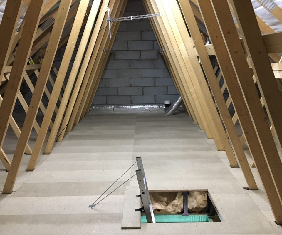 LoftZone Loft Boarding & Loft Ladders Fitted in a New House in Burton-on-Trent
